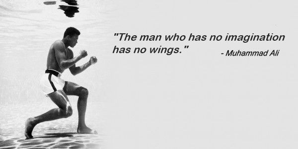Image result for The man who has no imagination has no wings.