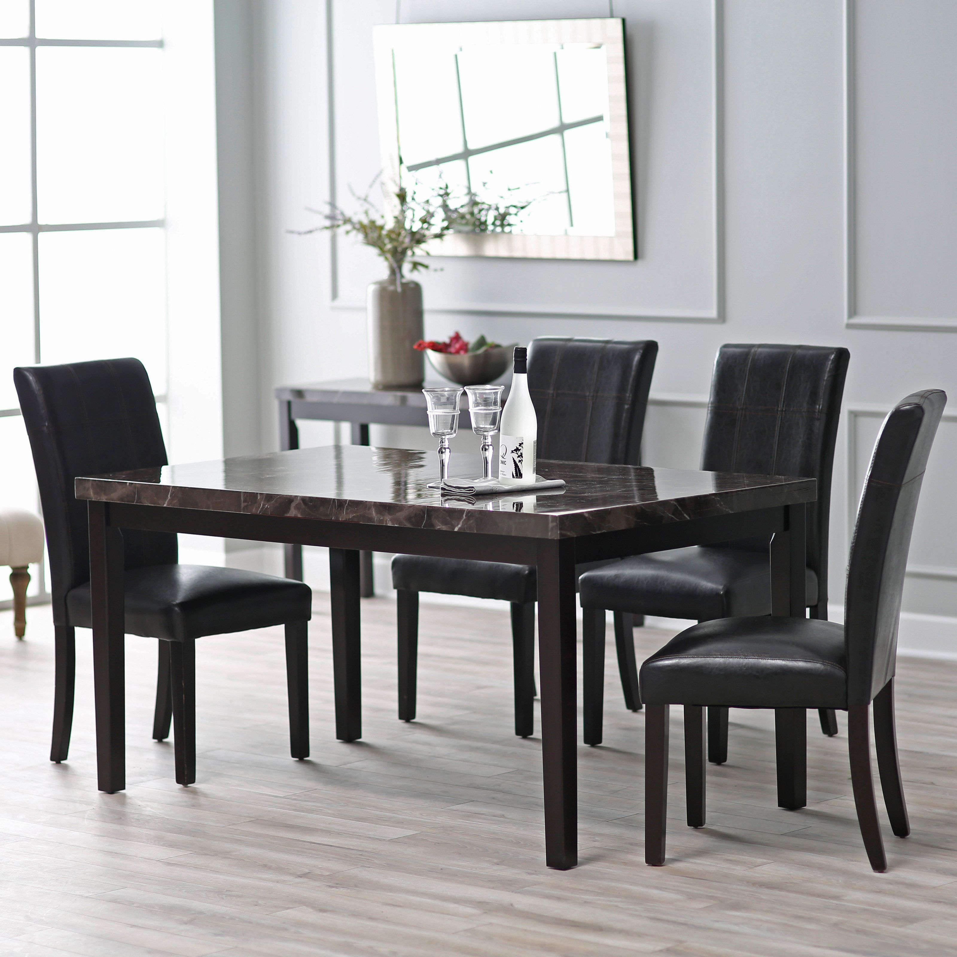Milano Esszimmer Finley Home Milano 5 Piece Dining Table Set Furniture For House