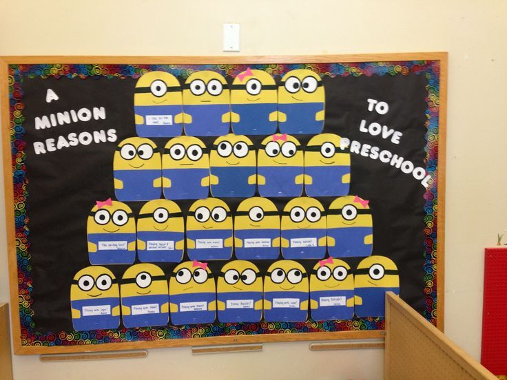 Minion pattern for bulletin board google search pre k for Back to school board decoration