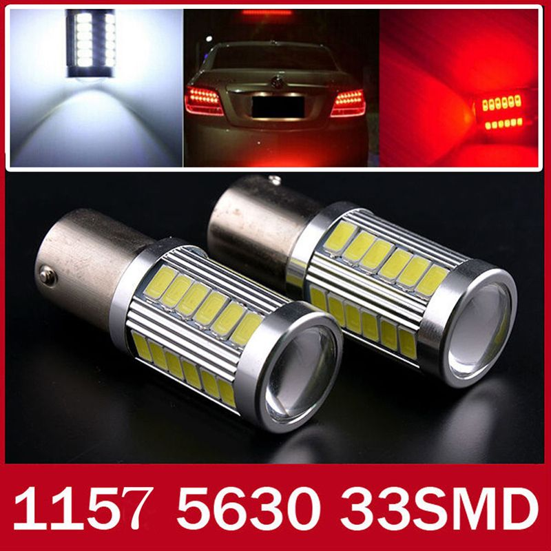 1x High Quality 1157 Bay15d P21 5w 33 Smd 5630 5730 Car Led Turn Signal Lights Brake Tail Lamps 33smd Auto Rear Reverse Bu Car Lights Running Lights Brakes Car