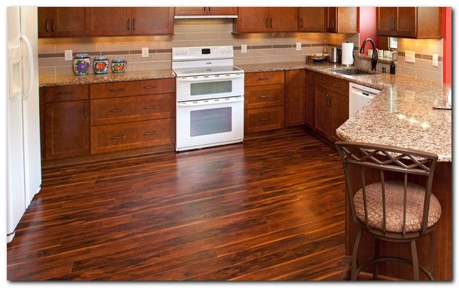 Awesome Laminate Wood Flooring In Kitchen Ideas  Woods And Kitchens Entrancing Kitchen Floor Options 2018