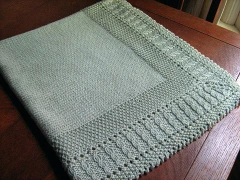 Patterns For Knitted Baby Blankets Free Knitting Pattern For