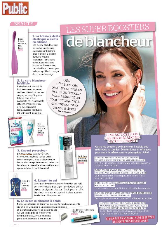 BeconfiDent's Tooth Gloss in the magazine Public - January 2014