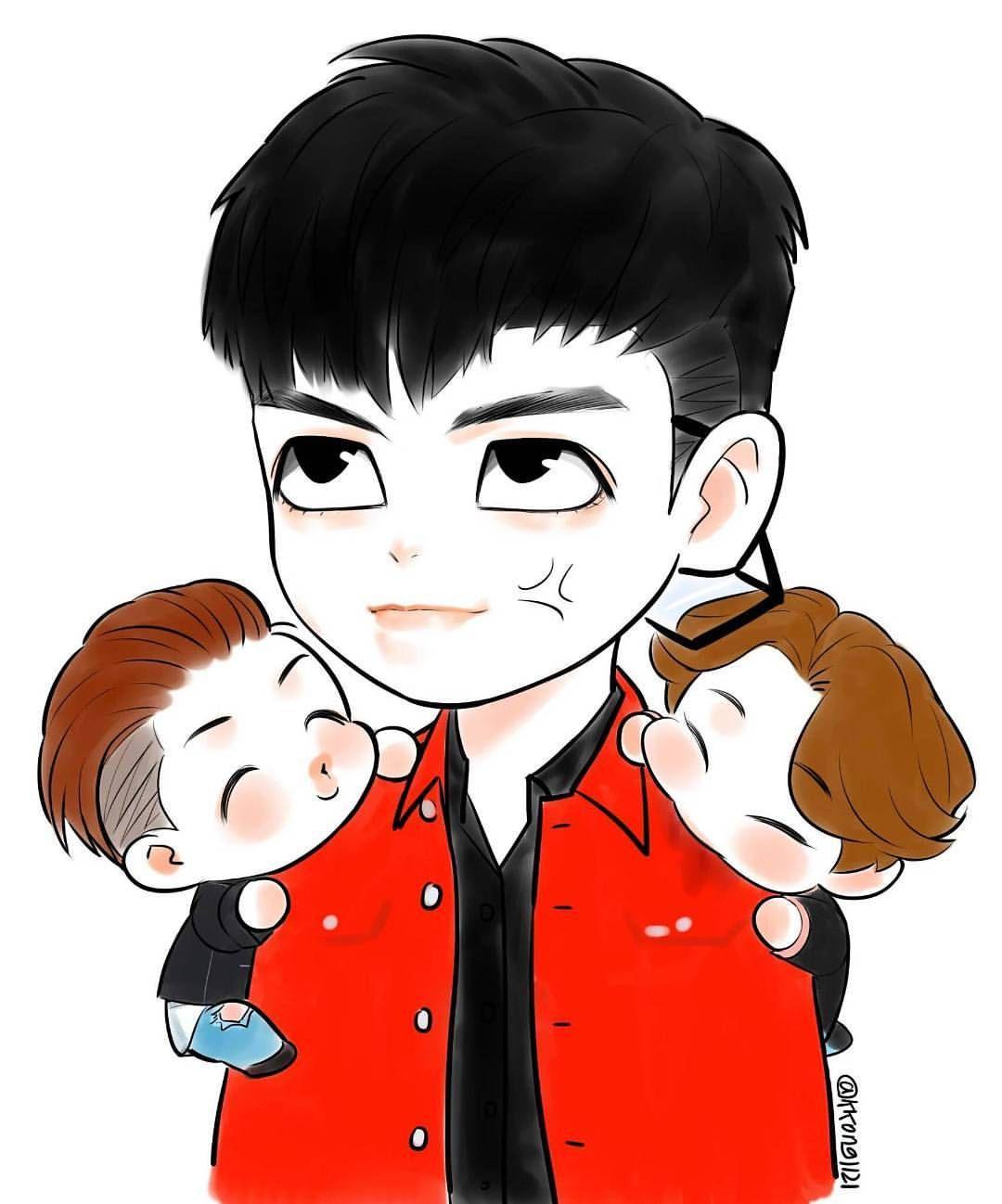 Cute [FanArt] @__youngbae__ @choi_seung_hyun_tttop h . #BIGBANG #choiseunghyun #TOP #dongyoungbae #Taeyang #kangdaesung #TOPSTYLE #epicface ©logo