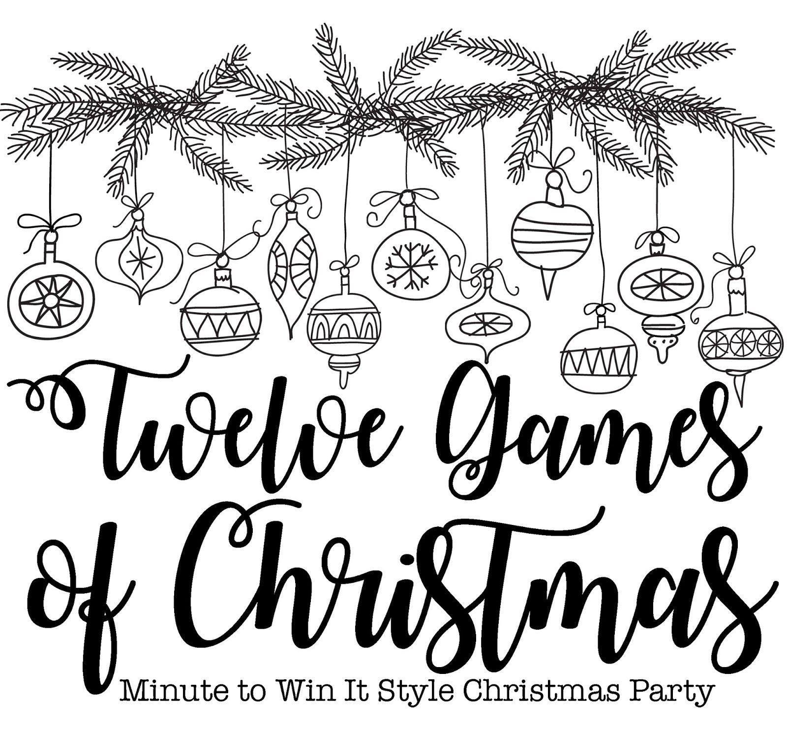12 games of christmas momfessionals christmas pinterest Toddler Scavenger Hunt Clues Printable last night was our sunday school class s annual christmas party and we hang out eat and play 12 games of christmas we do 12 little minute to win it