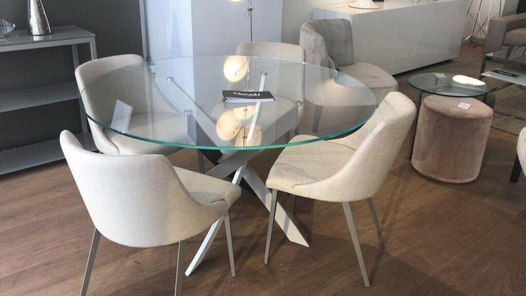 Details Sur Table De Salle A Manger Ronde Designer Italien Mazzoli