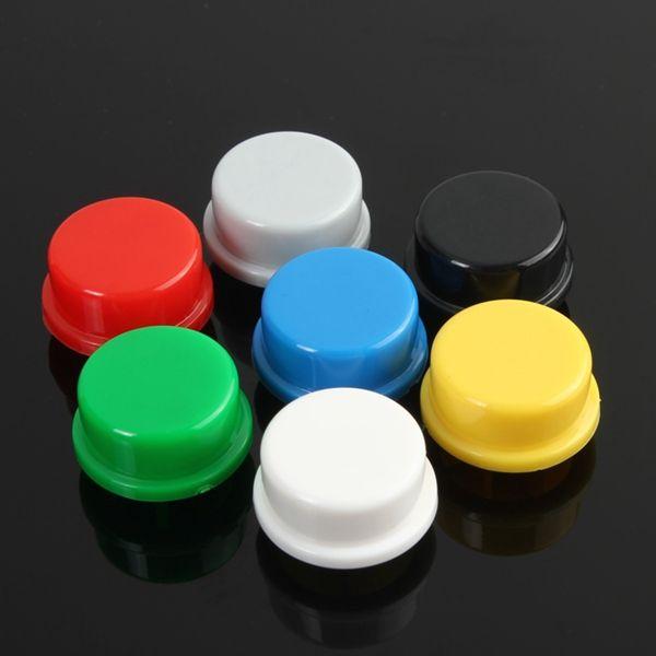 140pcs equipaggiamento di berretti di pulsante tattile a colori misto rotondo per interruttori di tatto di 12x12x7.3 mm