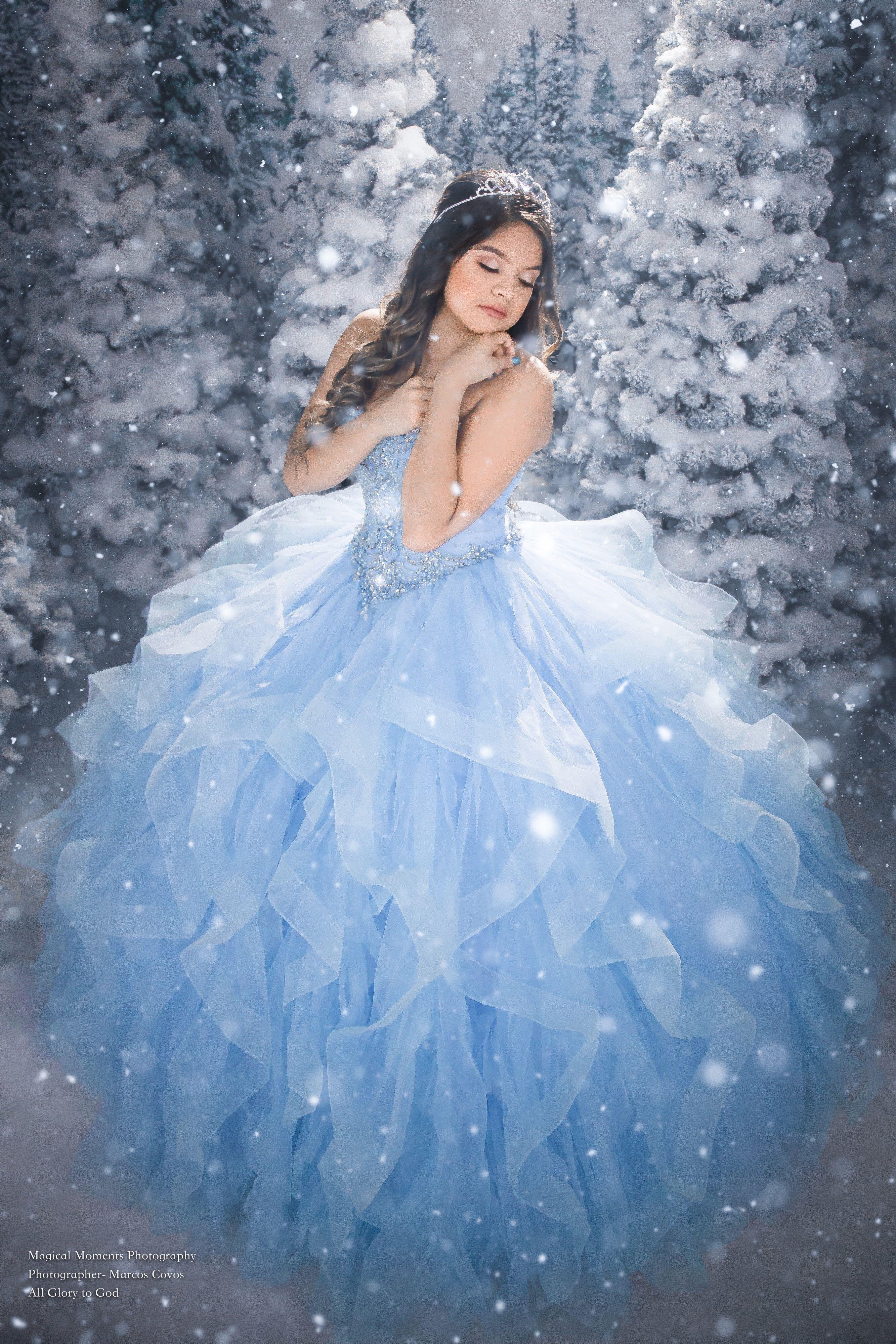 quinceanera photoshoot   winterwunderland, sweet 16 kleider