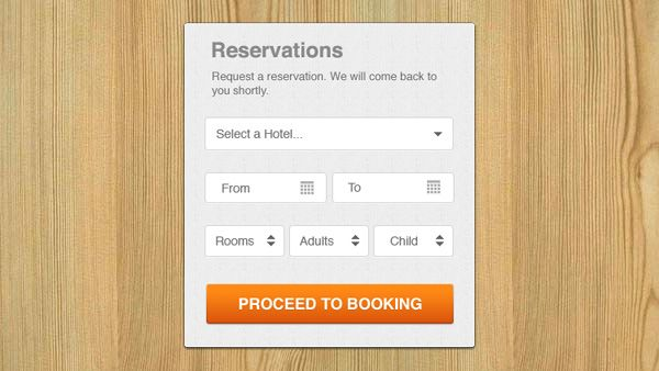 Hotel Reservation Ui Modal Box  HttpWwwWelovesoloComHotel