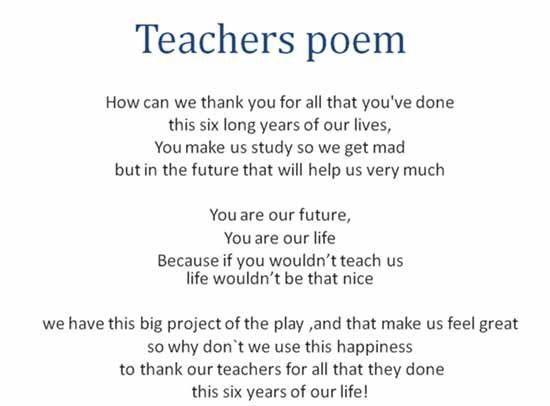 Poemas Cortos Para La Maestra De Primaria Imagui Teacher Poems Teaching Poems