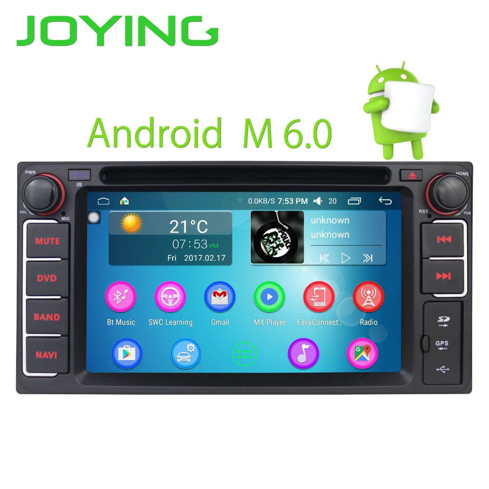 JOYING 2Din Android 6 0 Car Radio GPS Navi Stereo for Toyota