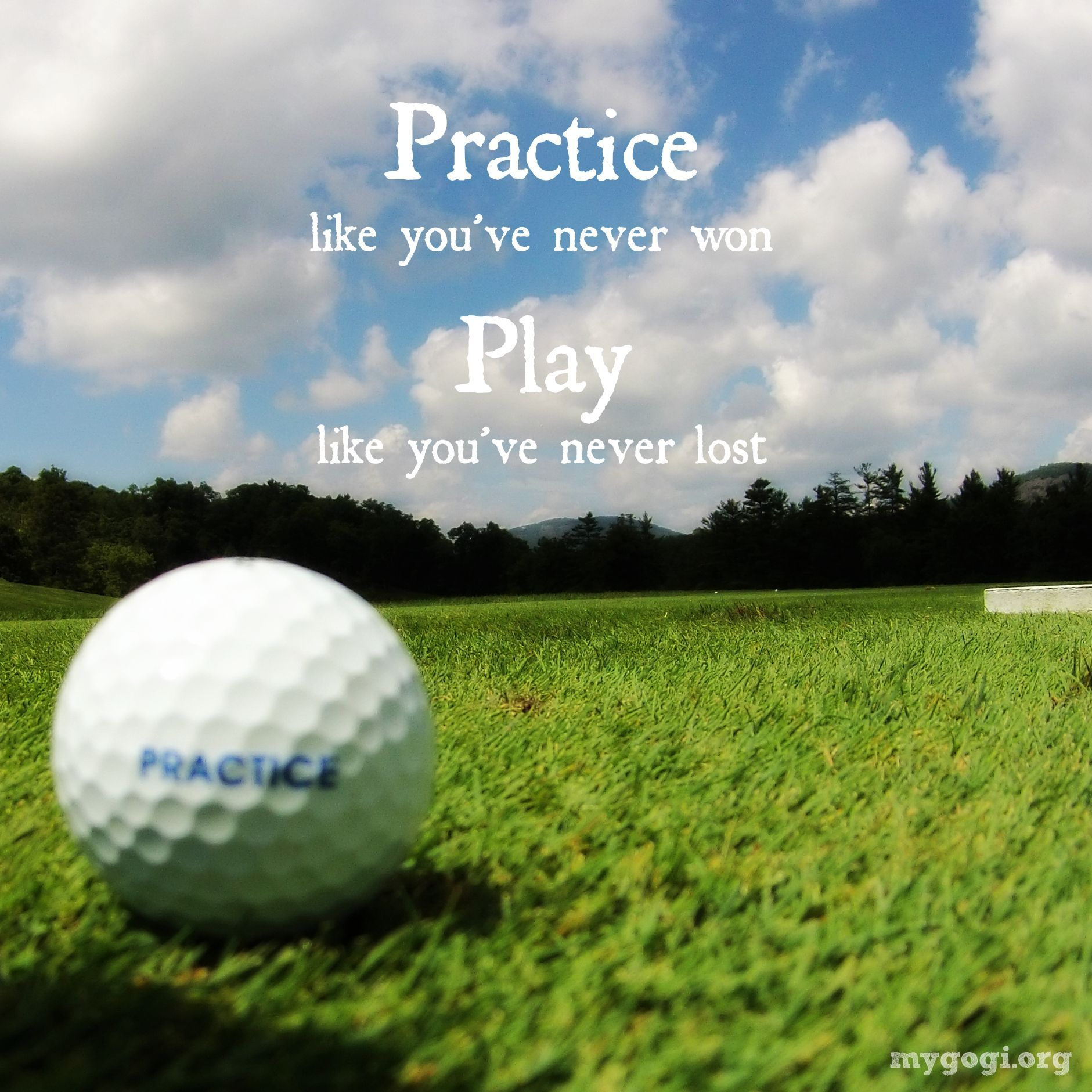 "Golf Quotes Awesome Opportunities Don't Happen You Create Them"" Chris Grosser"