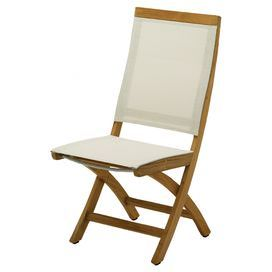 Fantastic Teak Folding Chair With Sling Style Back And Seat Both In Ncnpc Chair Design For Home Ncnpcorg