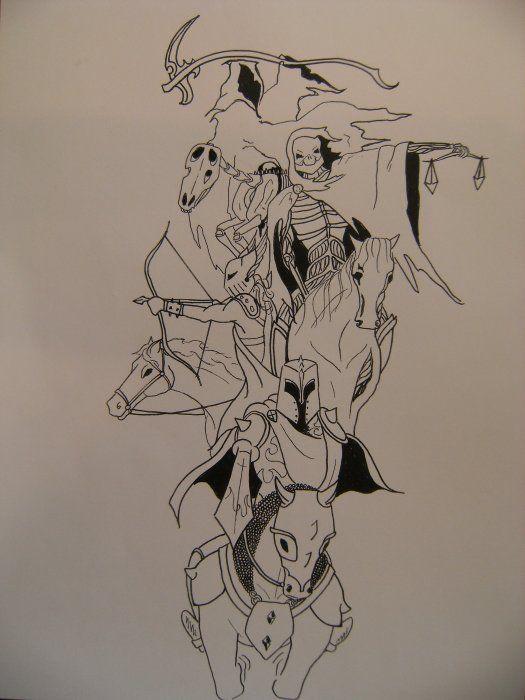 four horsemen of the apocalypse tattoo   The Four Horsemen I