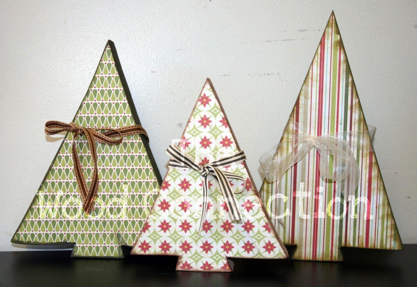 Arbolitos con papel de scrap de todo navidad pinterest paper
