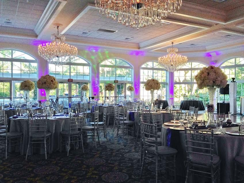 Deer Creek Country Club Flowers By Carol Tall Reception Centerpieces
