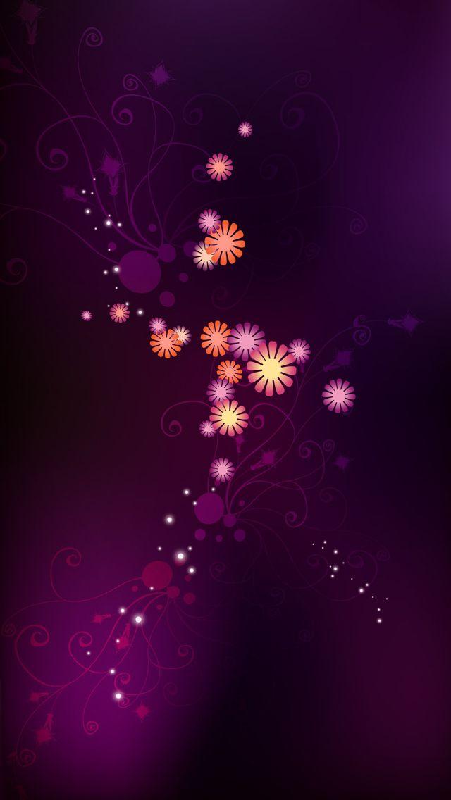 Iphone 5 Purple Wallpaper Abstract purple flower...