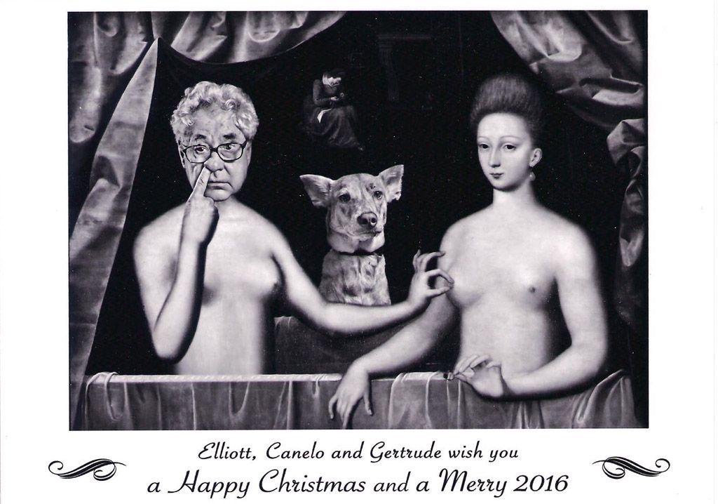 Christmas Card by Elliott Erwitt  the message