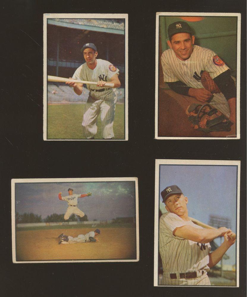 1953 Bowman Color Baseball Complete Set 160 W Reese Berra Mantle
