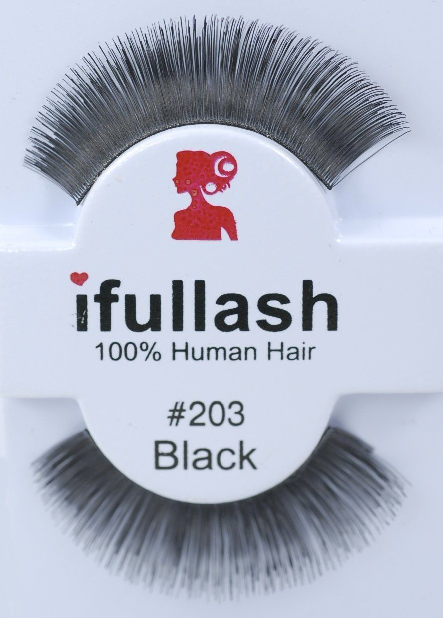 0751bd7fb44 ifullash 100% Human Hair 203 False Eyelashes 12 Pairs and Free Mask Pack >>
