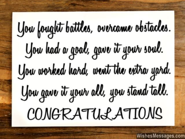 Congratulations Quote For Graduation Achievement Success Or