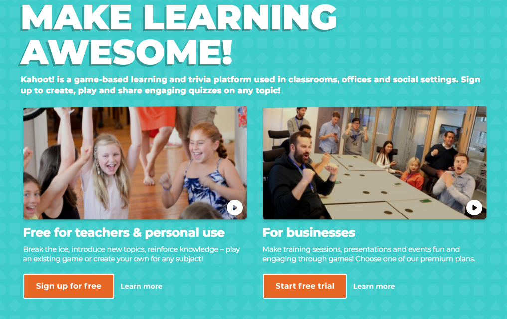Kahoot! is a gamebased learning and trivia platform used
