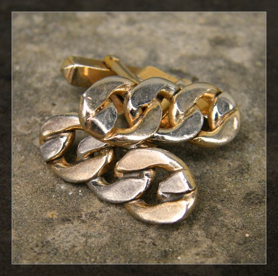 Swank Hallmark. Vintage Swank Gold Tone Free Form Cuff Links