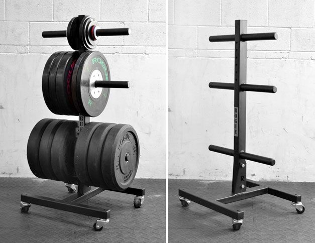 Vertical plate tree bumper storage rogue fitness