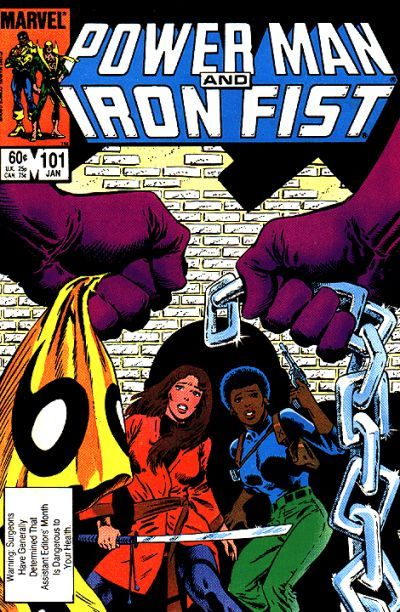 There's no crying in Assistant Editors' Month! Usually overseen by DC icon Denny O'Neil, this month it's a league of assistant Linda Grant's own as the menace that defeated the heroes targets investigators Colleen Wing (samurai for hire) and Misty Knight (has a bionic arm, but don't confuse her with Jaime Summers).