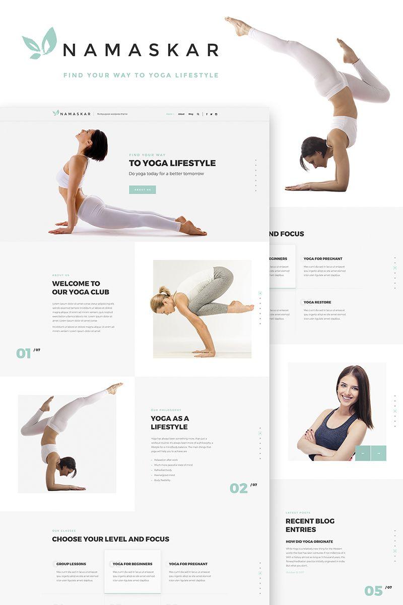 Namaskar - Yoga WordPress Theme | CMS | Pinterest