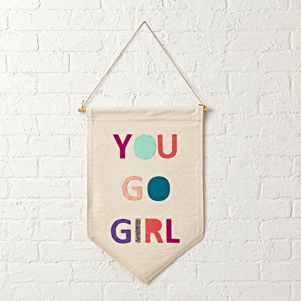 You Go Girl Canvas Banner