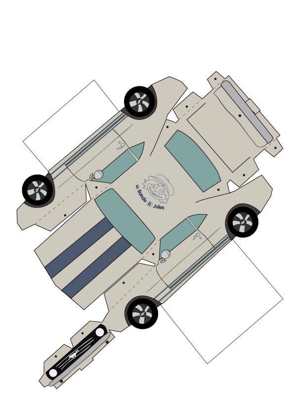 une voiture en papier les petites voitures le petit gar on et petites voitures. Black Bedroom Furniture Sets. Home Design Ideas