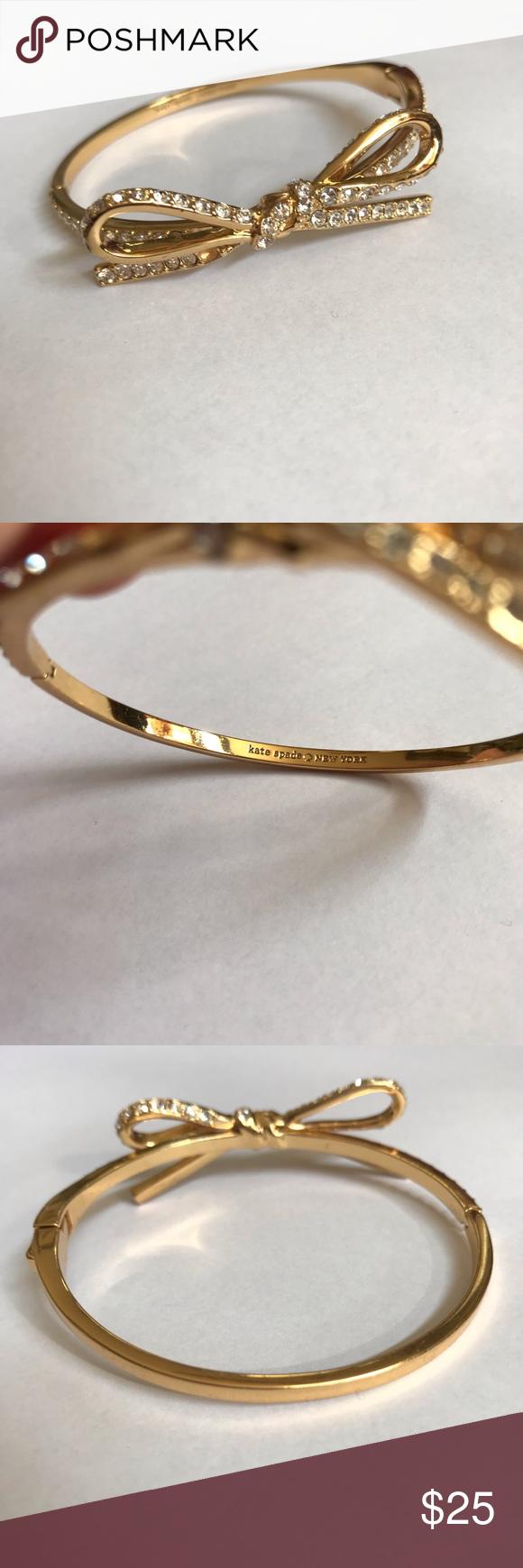 c41e92fcf30eb Kate Spade Sparkly Bow Bracelet NWOT. Brand new. Never worn. Pretty ...