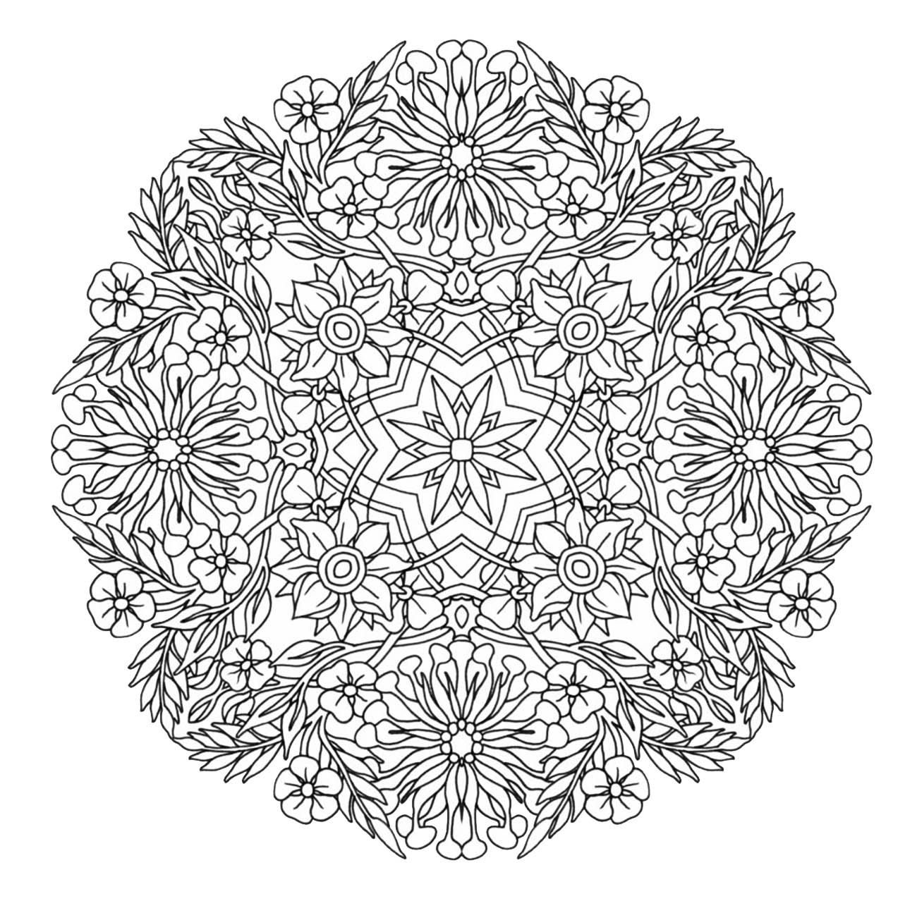Advanced Mandala Complex Creative Design Coloring Pages Printable And Book To Print For Free Find More Online Kids Adults