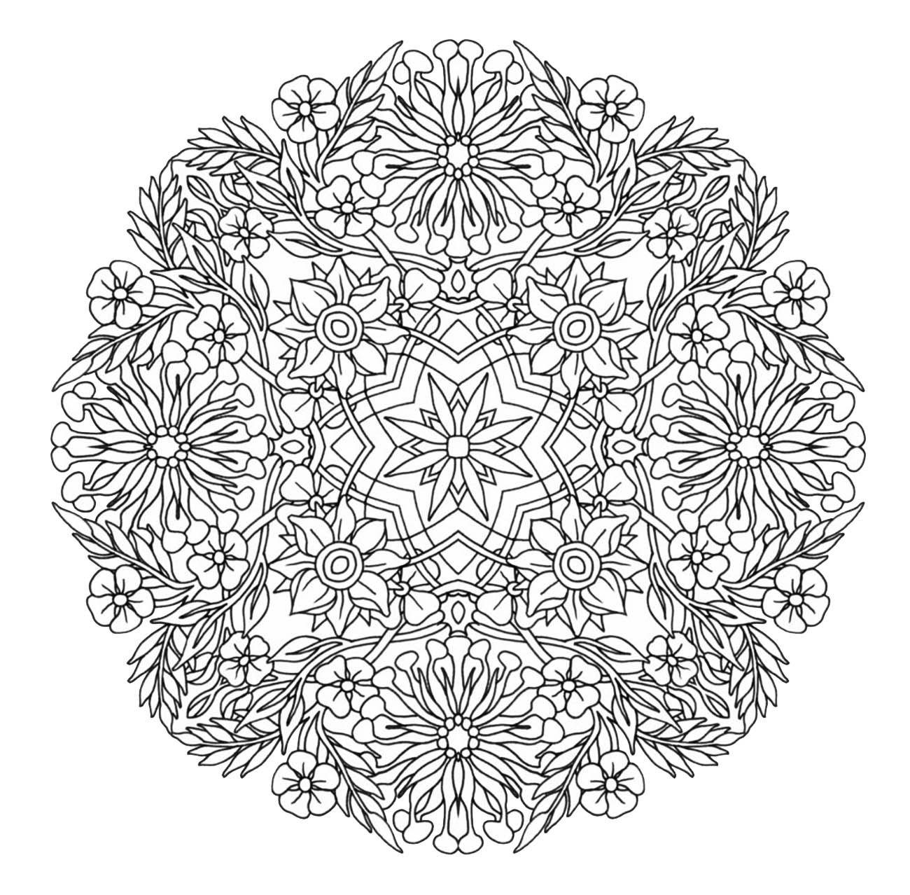 Kleurplaten Mandala Pdf.Mandala To Download In Pdf 9from The Gallery Mandalas