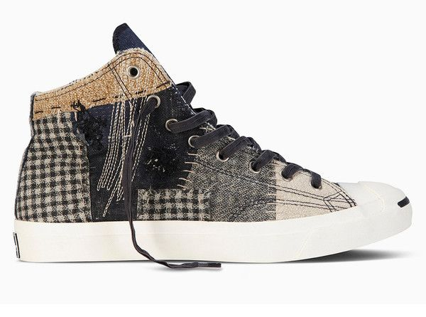 569123262a87 Converse First String Jack Purcell LTT Patchwork Mid - Bodega .