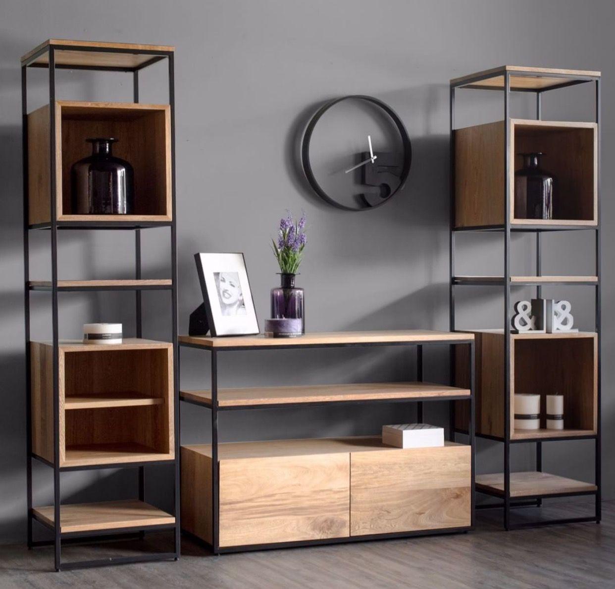 Librero muebles pinterest libreros madera y hierro - Lavado de muebles de madera ...