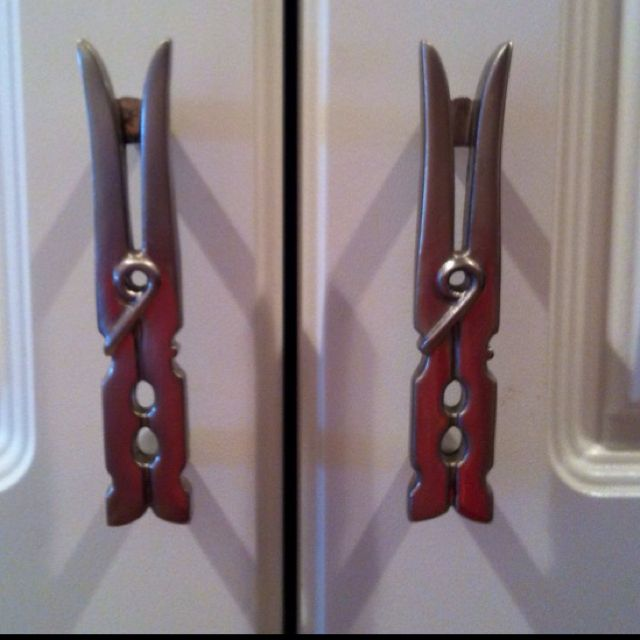 Clothes Pins As Door Handles In Your Laundry Room My Mother In