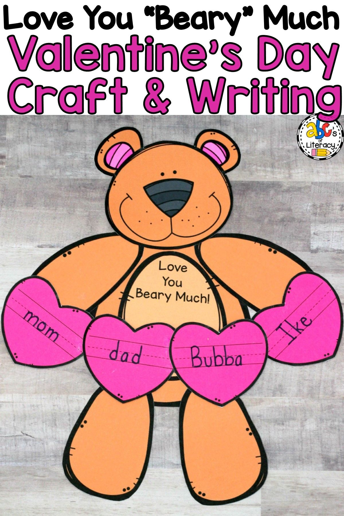 Love You Beary Much Valentine S Day Craft And Writing
