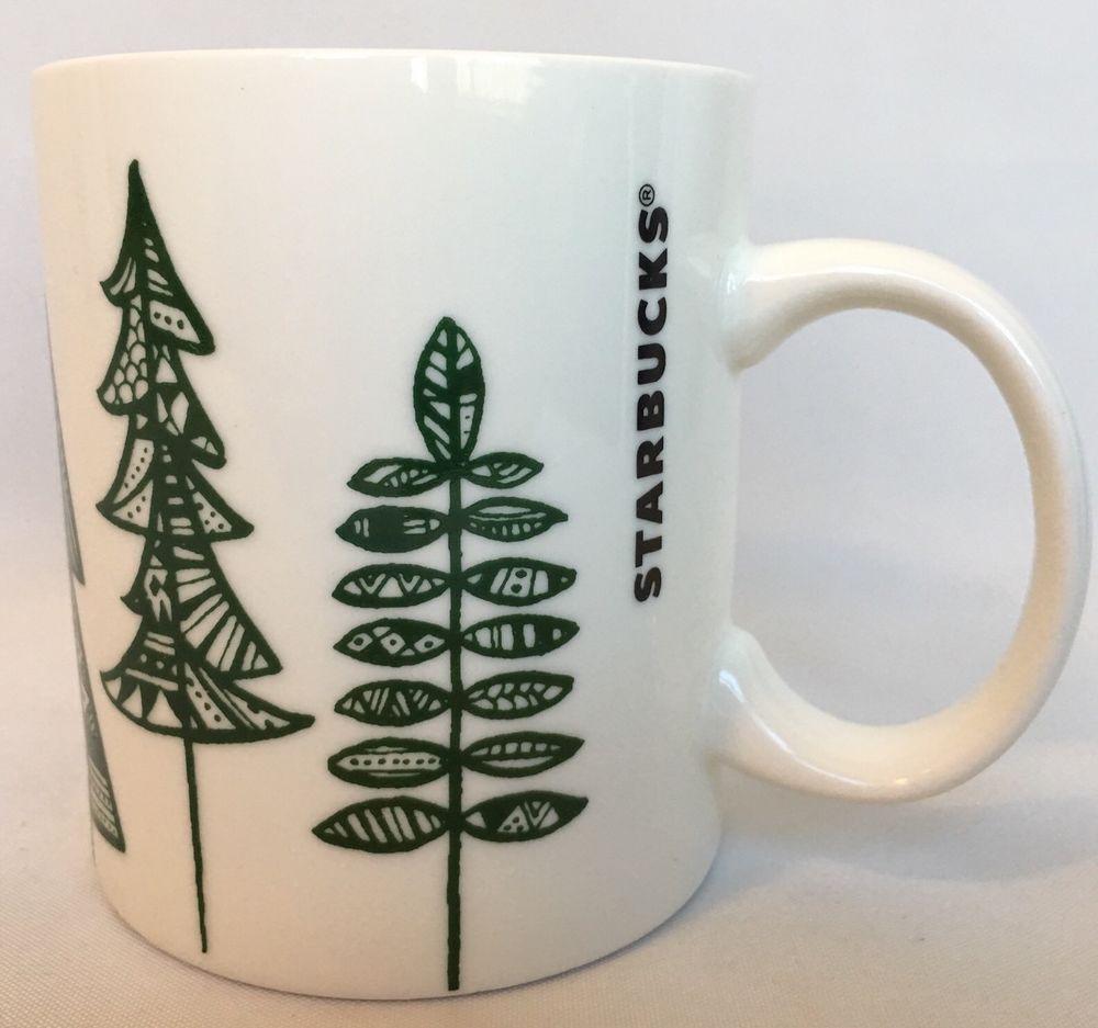 Starbucks Christmas Coffee Mugs.2015 Starbucks Christmas Coffee Mug Holiday Evergreen Tree
