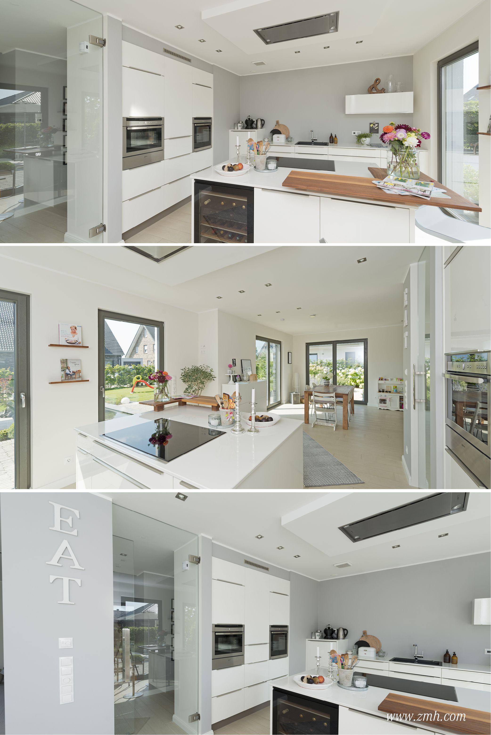 #Küchen #Design #Wohlfühlen #Esszimmer #Designerküche #Weiß #Holz #Wohnen