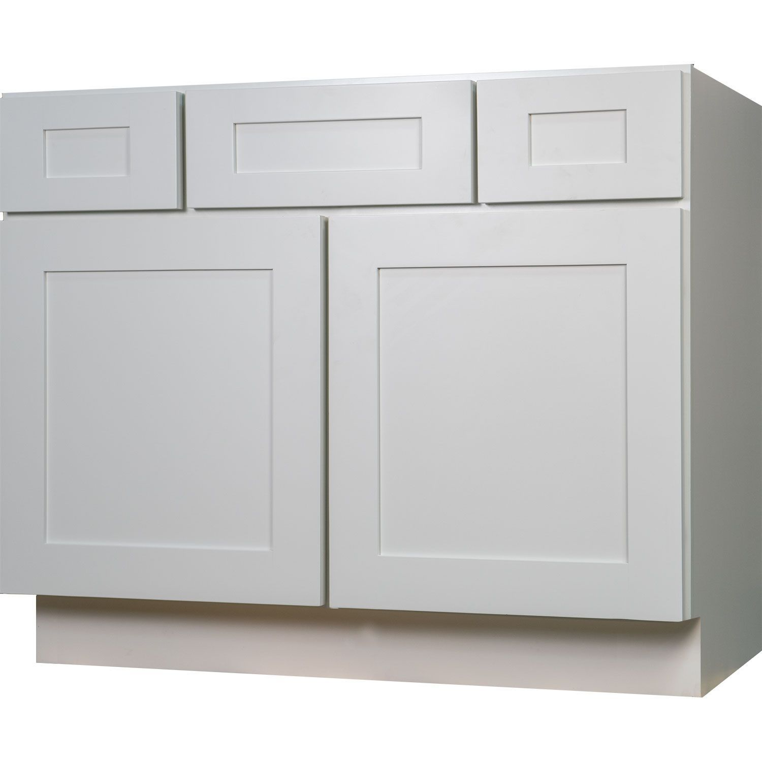42 Inch Bathroom Vanity Single Sink Cabinet In Shaker White With Soft Close  Drawers