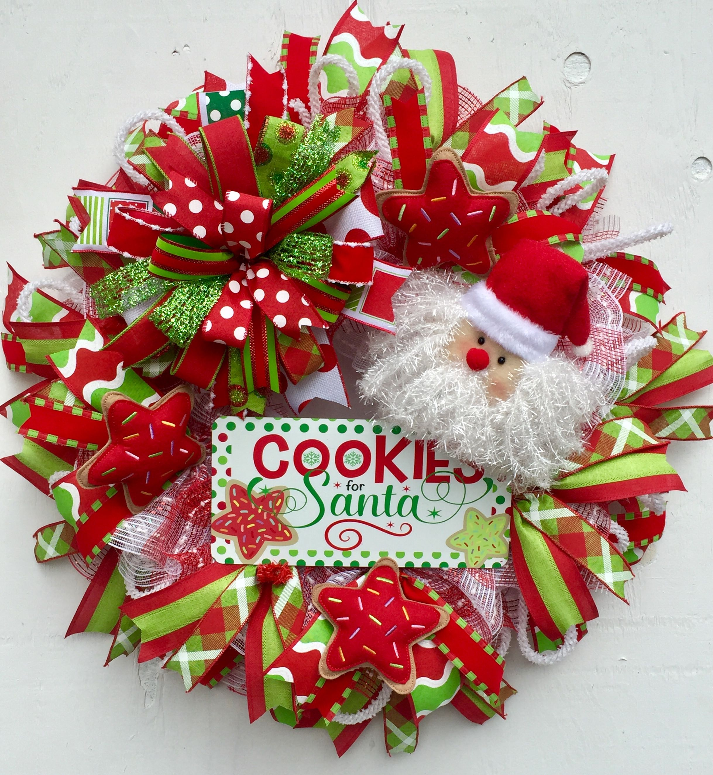 Santa Wreath Whimsical Wreath Cookies For Santa Christmas Wreath
