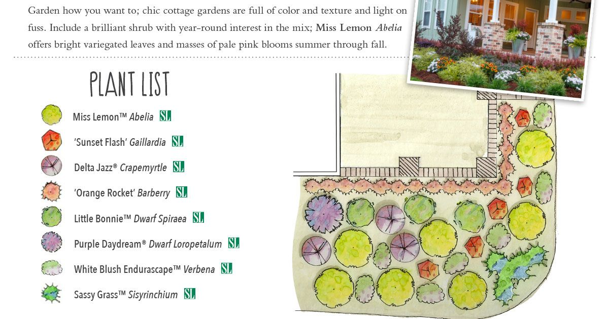 the Rules! Try a cottage garden front and center
