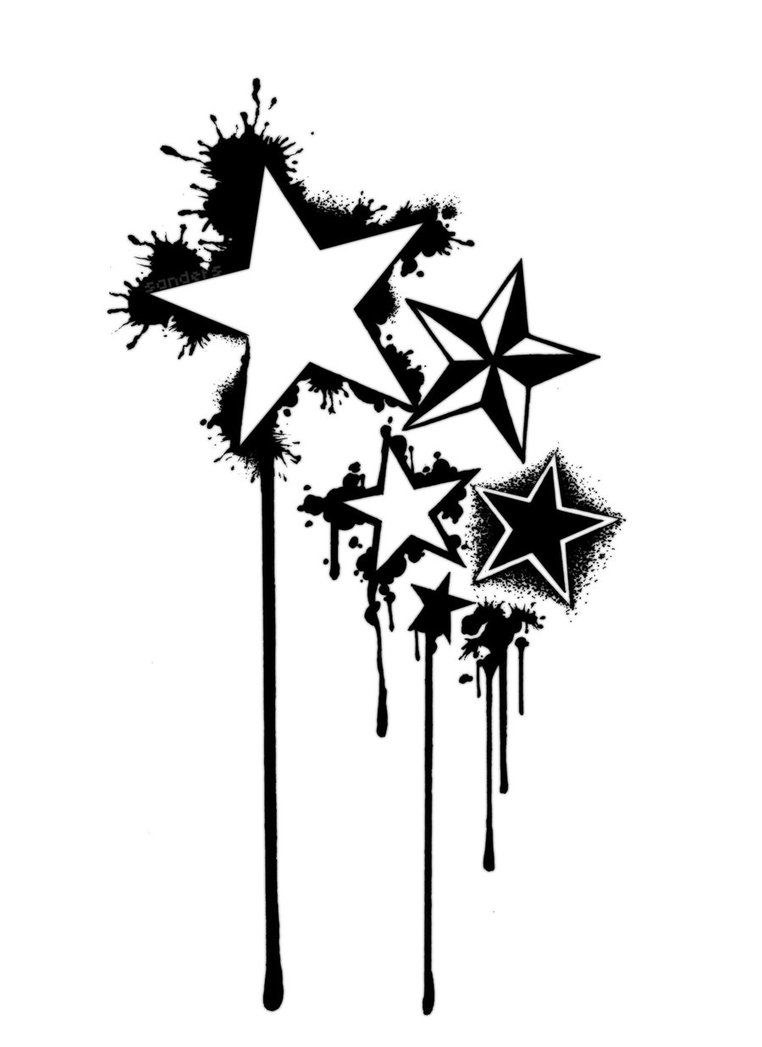 32cfeb5f7 Star Tattoo Drawings | Stars Tattoo by ~Sandersk on deviantART ...