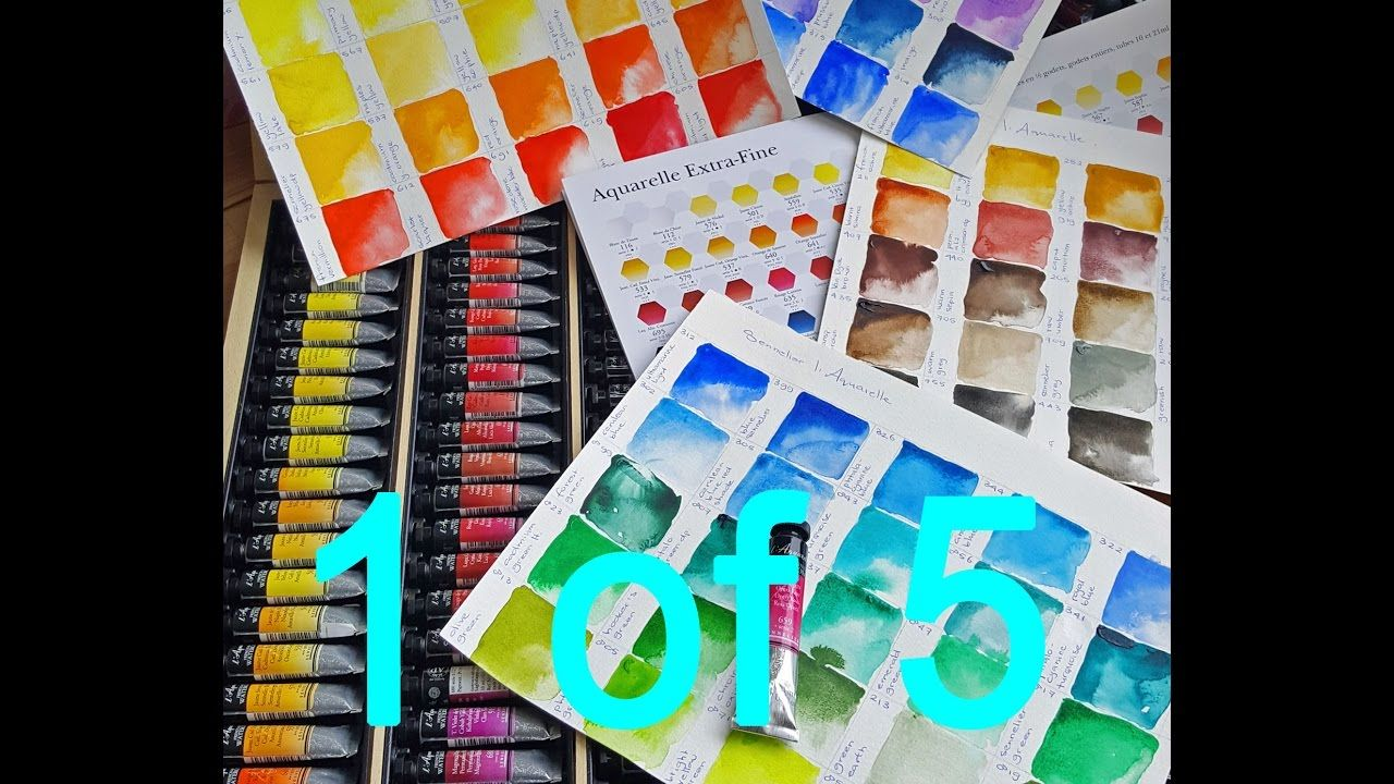 Sennelier Watercolors Full Set Color Swatching 1 Of 5