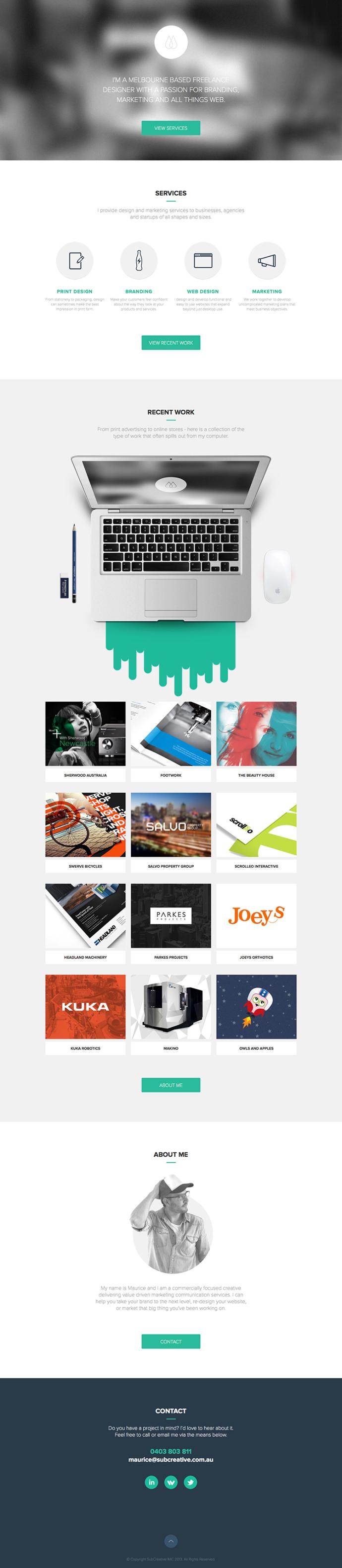 Sub Creative Http Www Fltdsgn Com Web Development Design Web Design Web Design Trends