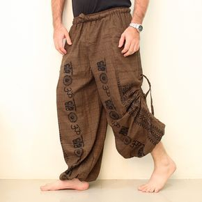 Cotton Harem Pants Men OM  eSiamCenter