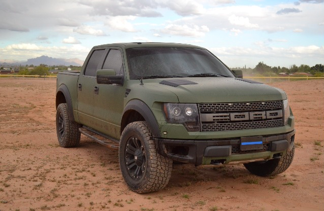 Ford Raptor Matte Green Google Search Ford Raptor Ford Trucks