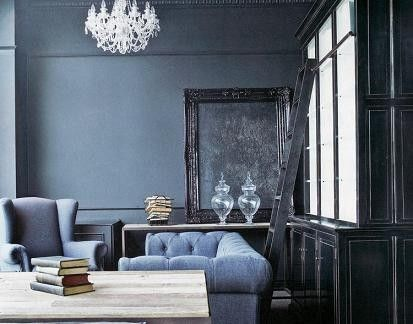 incredible blue grey living room | Sherwin Williams Bracing Blue (6242) in 2019 | Blue gray ...